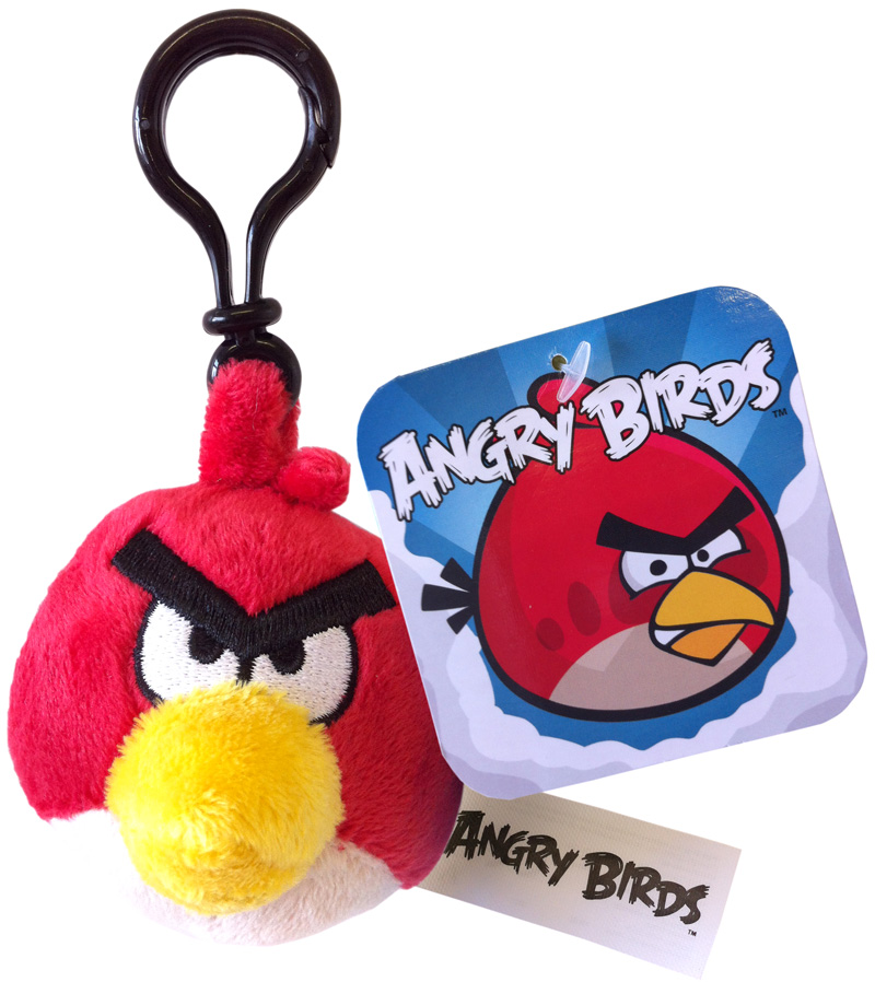 Angry birds soft toy plush bag clip red bird ebay - Angry birds big brother plush ...