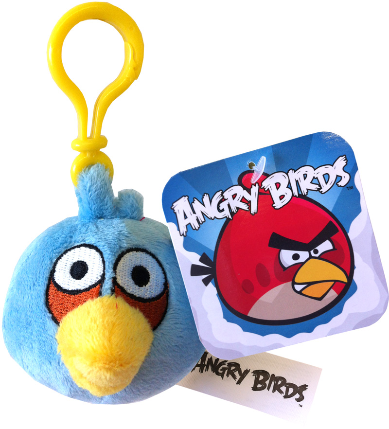 Angry birds soft toy plush bag clip blue bird ebay - Angry birds toys ebay ...